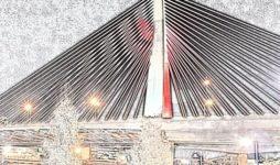 "Dyslexia Awareness ""Light It Up Red"" at the Zamkin Bridge"