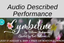 """Audio Described """"Cymbeline"""" at Shakespeare on the Common"""